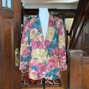 Vintage 1980s/1990s Multicolor Floral Blazer